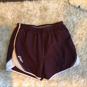 Pants - Ascis shorts - maroon